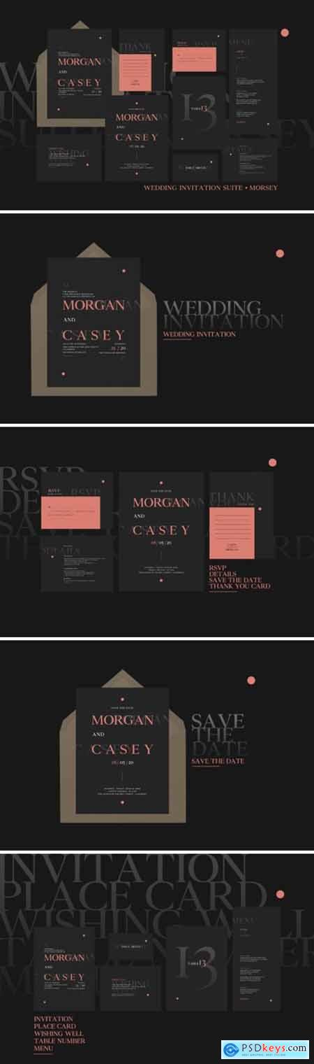 Wedding Invitation Suite - Morsey 2007438