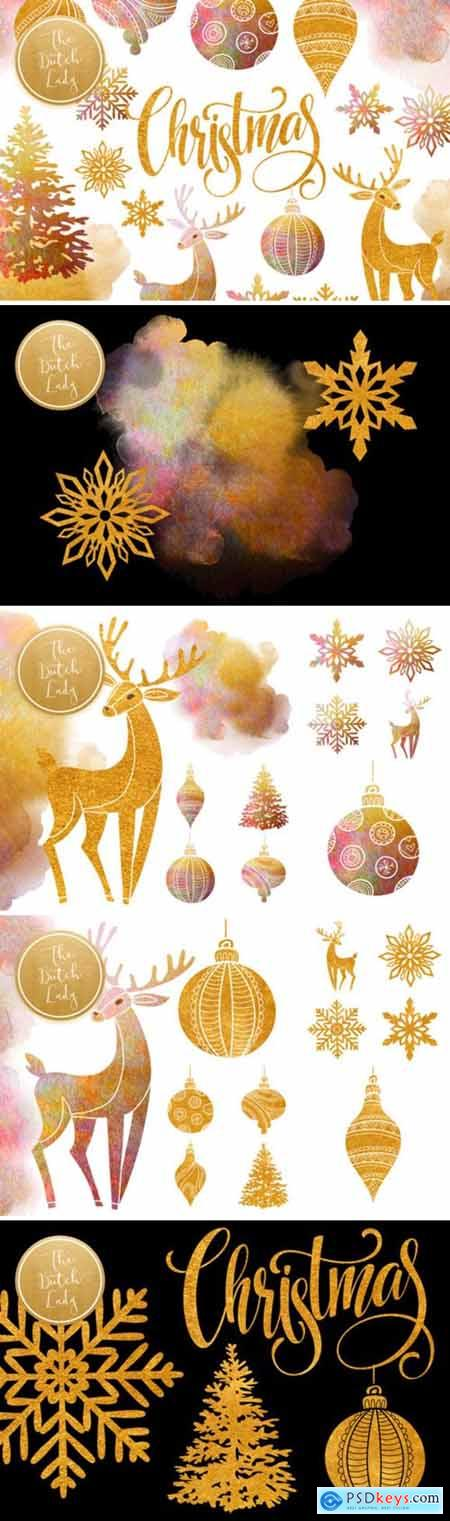 Christmas Ornaments Clipart Set 2007624