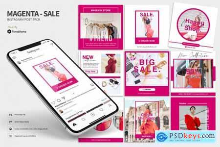 Magenta - Fashion sale Instagram post HR