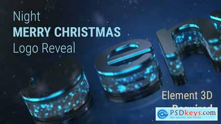Videohive Night Merry Christmas Logo Reveal 22803117