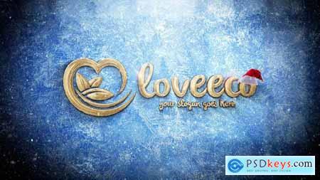 Videohive Christmas Gold Logo 22813296