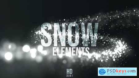Videohive Christmas Snow Elements 22976800