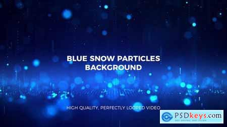 Videohive Falling Blue Particles Background 22975339