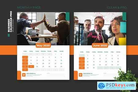 2020 Clean Business Calendar Pro with US Holiday
