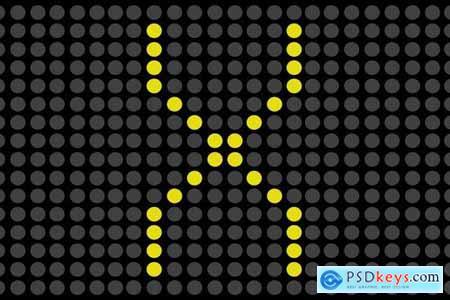 Alphabet Concept on electronic scoreboard
