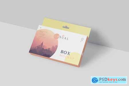Box Mockup - Wide Slim Rectangle Size with Hanger