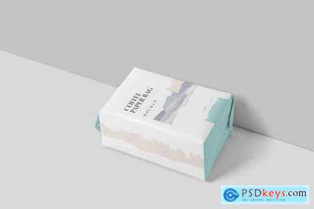 Coffee Paper Bag Mockup Set Medium Size[