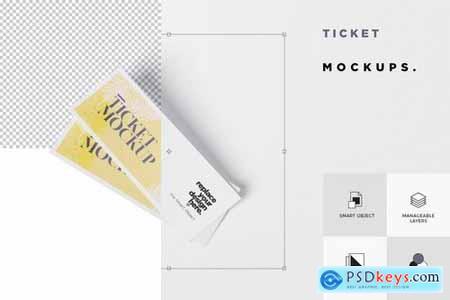 Ticket Mockup Set