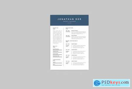 Jonathan Graphic Resume Designer
