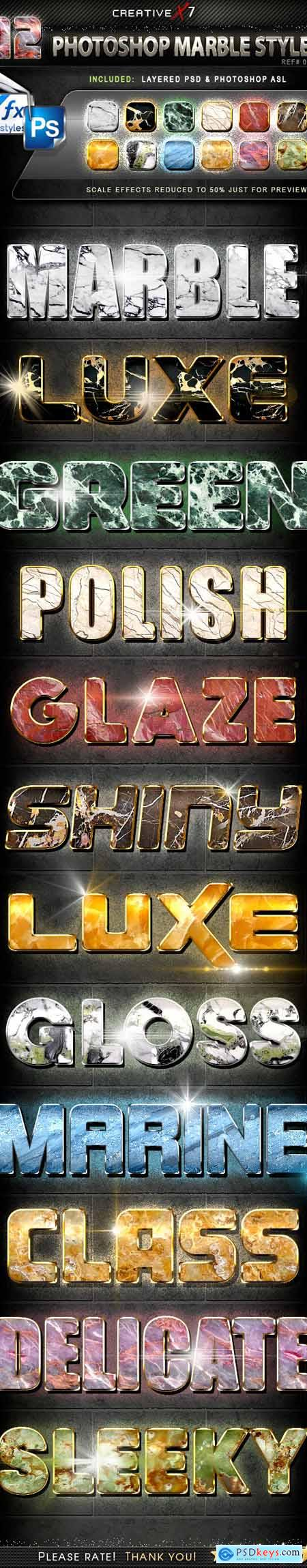 CreativeX7 - 12 Photoshop Marble Styles 24871377