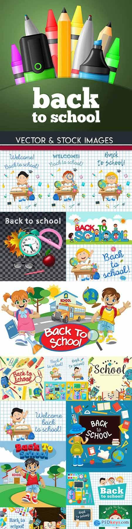 Back to school and accessories collection illustration 33