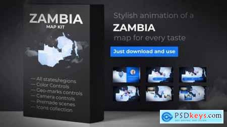 Videohive Zambia Map Republic of Zambia Map Kit 25052822