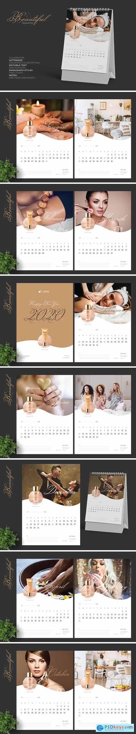 2020 Clean Creative Beauty Calender Pro