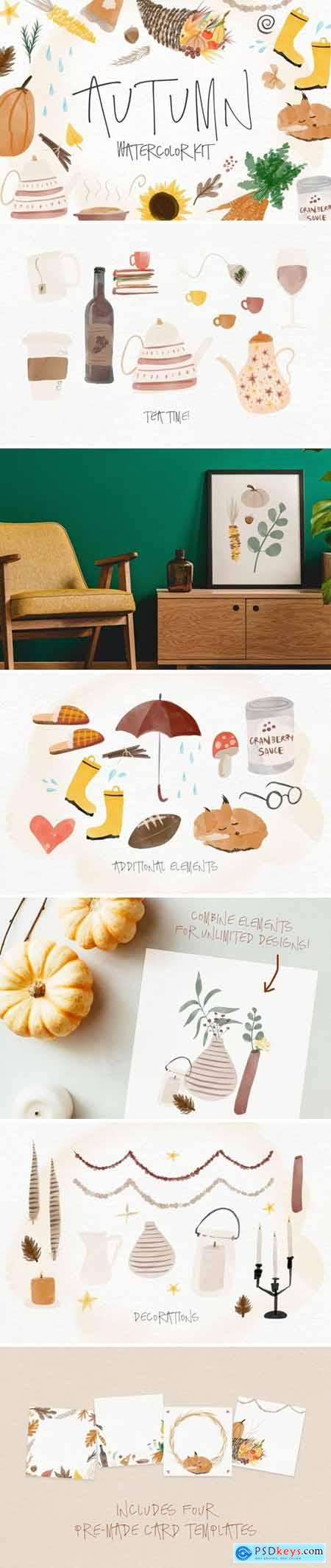 Autumn Watercolor Kit 4164444