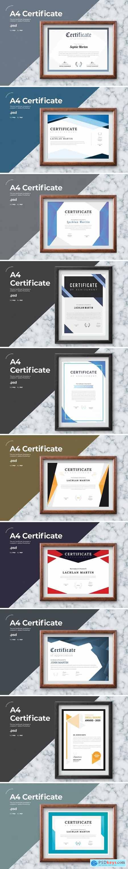 Certificate Template - A4 Bundle