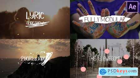 VideoHive Lyric Slideshow After Effects 25058839