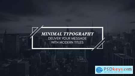 VideoHive Minimal Modern Typography 23749851