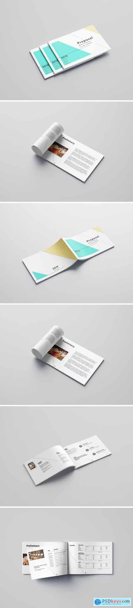 Minimalist Proposal Template Design 2013813