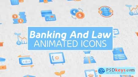 Videohive Banking and Law Modern Animated Icons 25063035