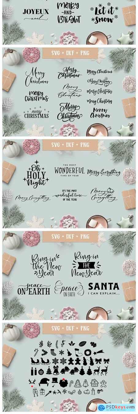 Christmas-Holiday Quotes SVG Bundle 2012477