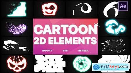 Videohive 2D Cartoon Elements After Effects 25075508