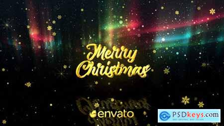 Videohive Christmas Aurora Lights Greetings 25062855
