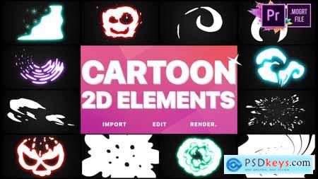 Videohive 2D Cartoon Elements Premiere Pro MOGRT 25076812