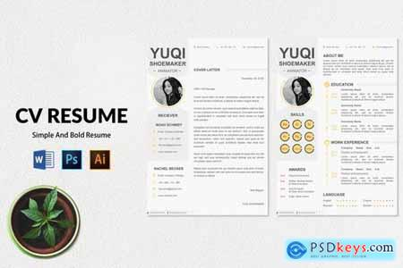 CV Resume Simple And Clean