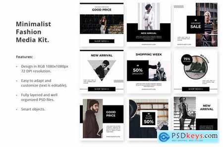 Social Media Kit Minimal Fashion