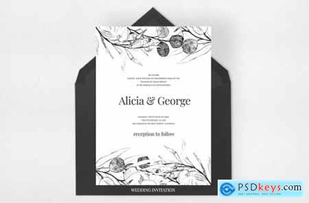 Black Eucalyptus Wedding Suite