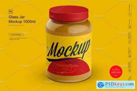Glass Jar Mockup 1000ml 4278347