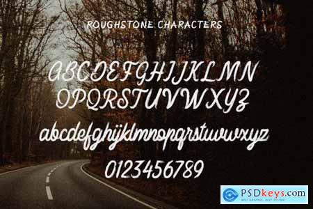 Roughstone - Handbrush Typeface