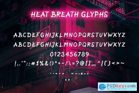Heat Breath - Brush Texture Font