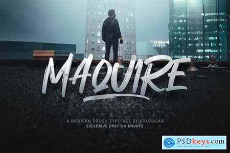 Maquire Brush Font