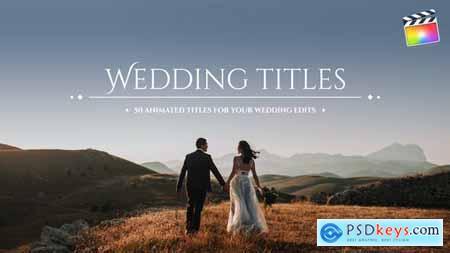 Videohive 50 Wedding Titles 24961453