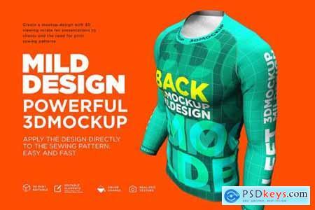 Raglan T-Shirt - 3D Mockup (Long) 4219008