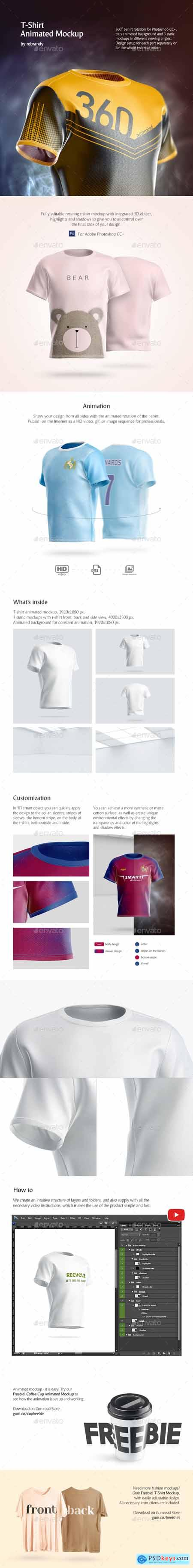 T-Shirt Animated Mockup 24720128