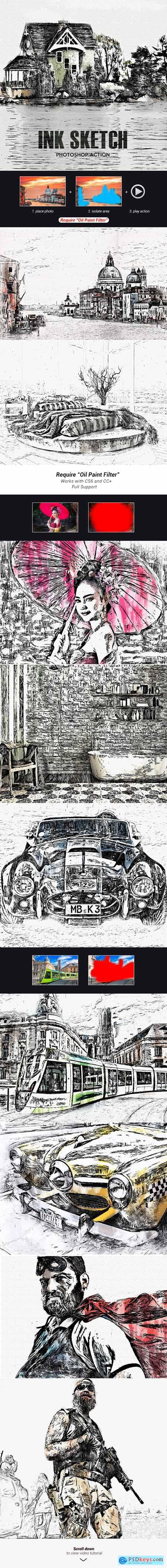 InkSketch - Photoshop Action 24747552
