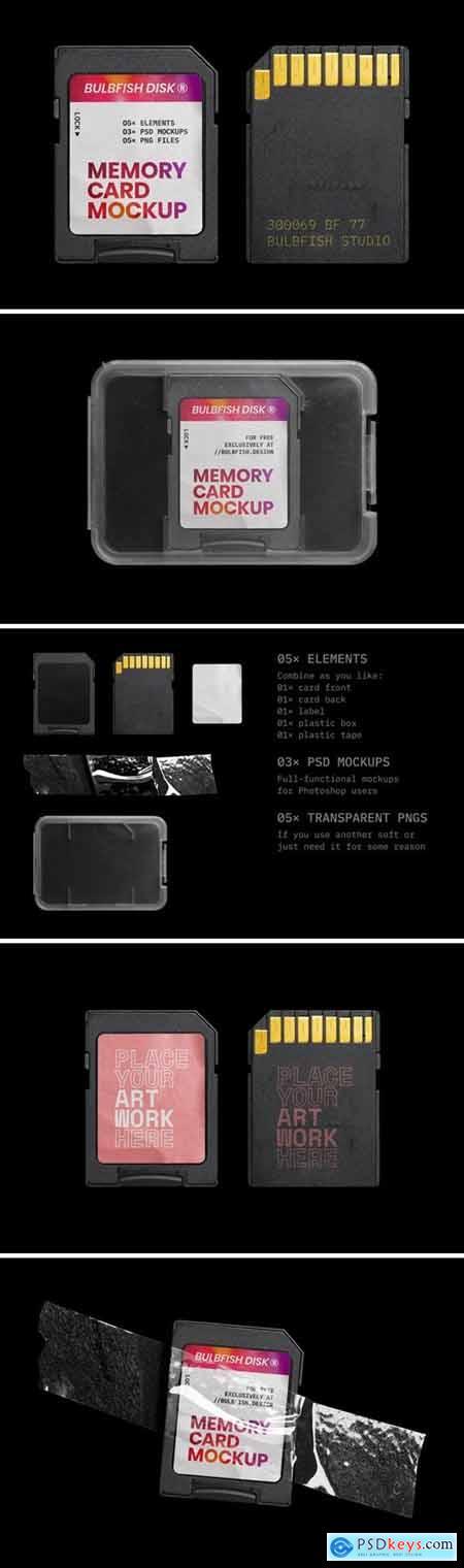 Memory Card Mockup