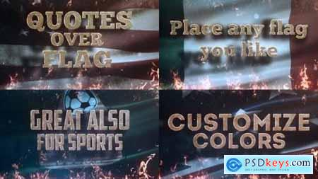Videohive Quotes Over Flag 22634481