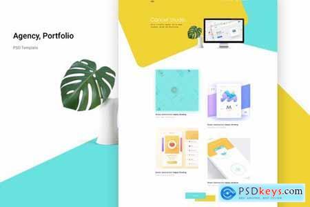 Agency portfolio Psd Template