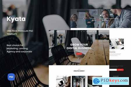 Kyata One Page Parallax PSD Template