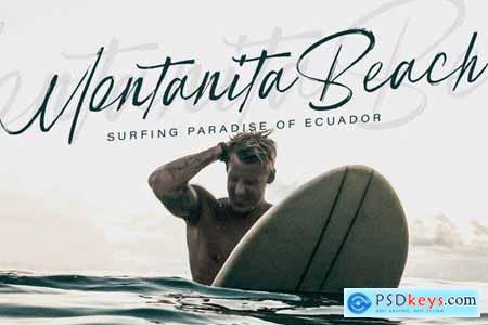 Scout Beach - Handwritten Brush Font