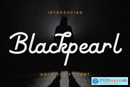 Blackpearl - Monoline Script Font