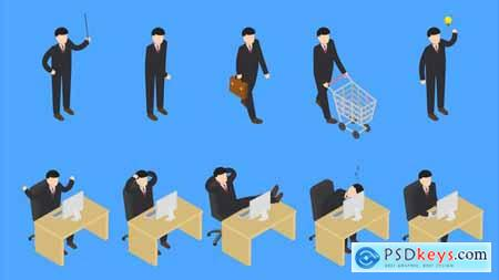 Videohive Isometric People 21839906