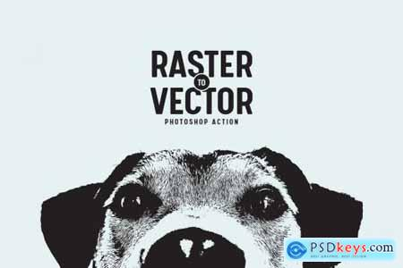 Raster to Vector Photoshop Action 3742749