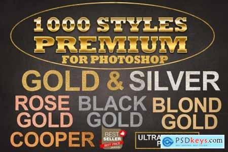 Gold Foil Layer Styles Photoshop 4258935