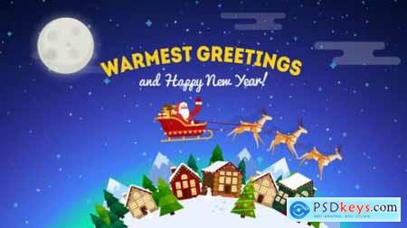 Videohive Christmas Greeting Card Opener 19010810