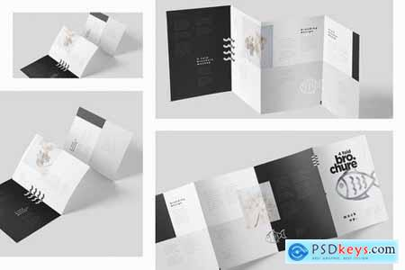 4-Fold Brochure Mockup Set - Din A4 A5 A