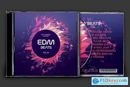 EDM Beats CD Cover Artwork